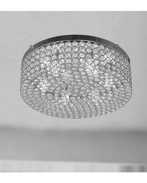 Berta 6-light Chrome Flush Mount Chandelier L115-BZ-529