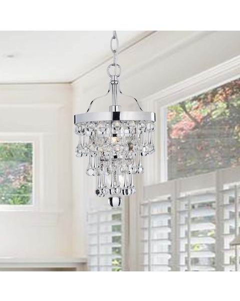 Claudia Chrome Finish Crystal Chandelier L227-VY-583