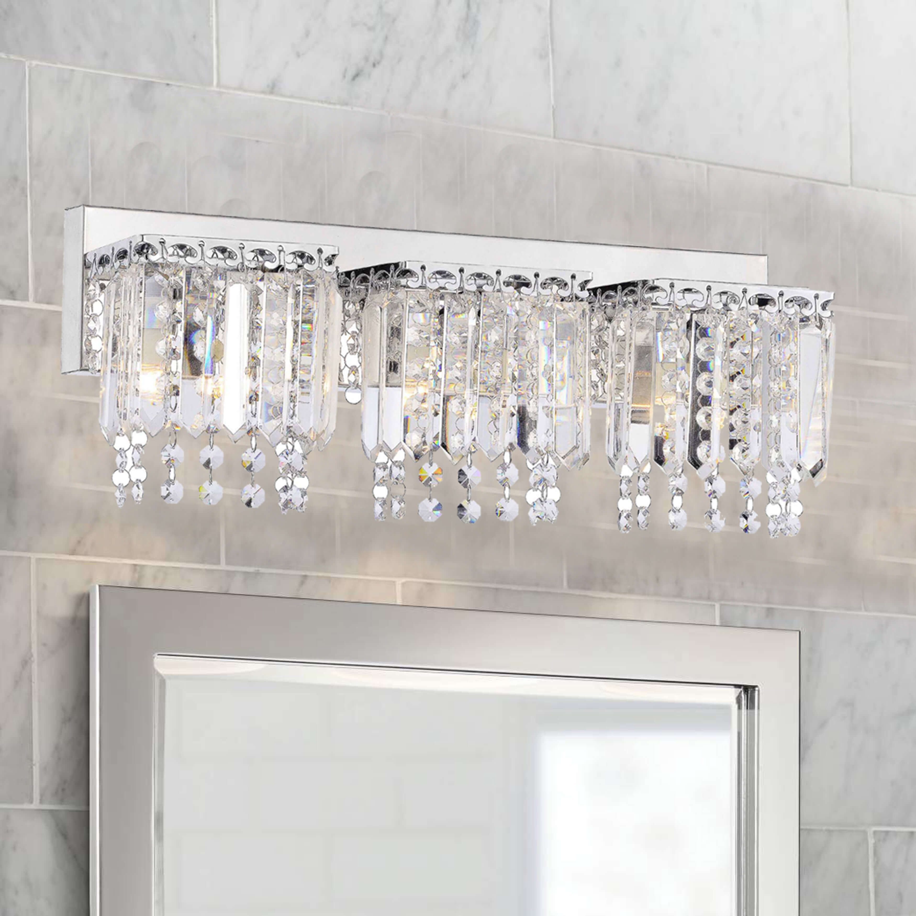 Evelyn 3-Light Crystal Strand Wall Sconce L233-GX-586