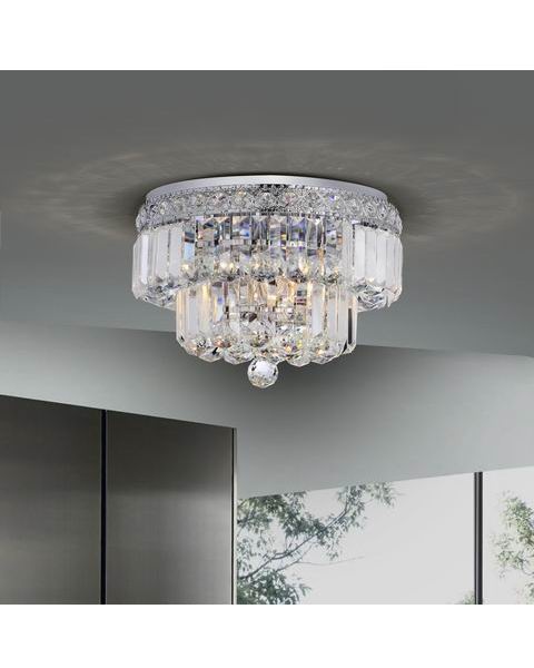 Two Tier Crystals Flush Mount Chandelier L245-TV-592