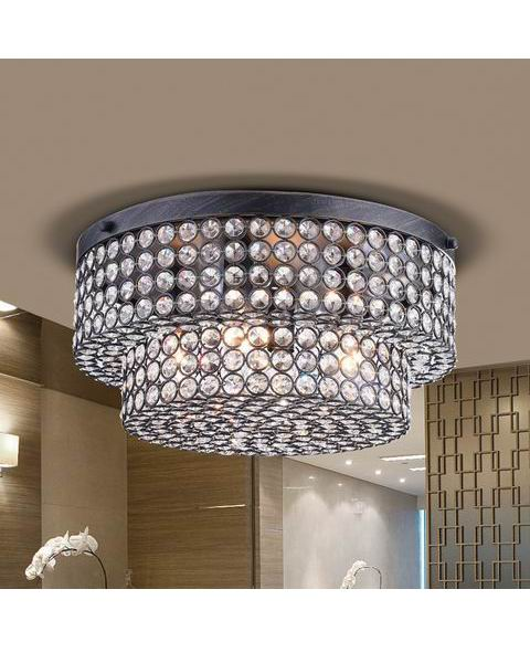 Francisca Two Tier Crystal Flush Mount Chandelier L333-ZA-636