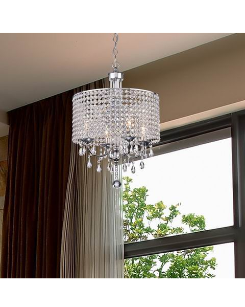 Carina 4-Light Chrome Finish Crystal Chandelier L345-TZ-642