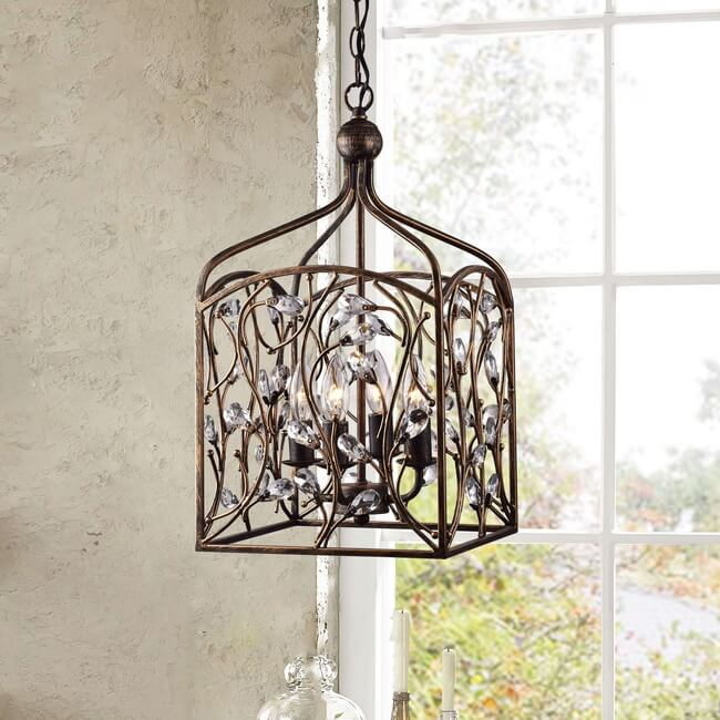 Ashley Crystal Bud Foyer Pendant Lantern L353-LD-646