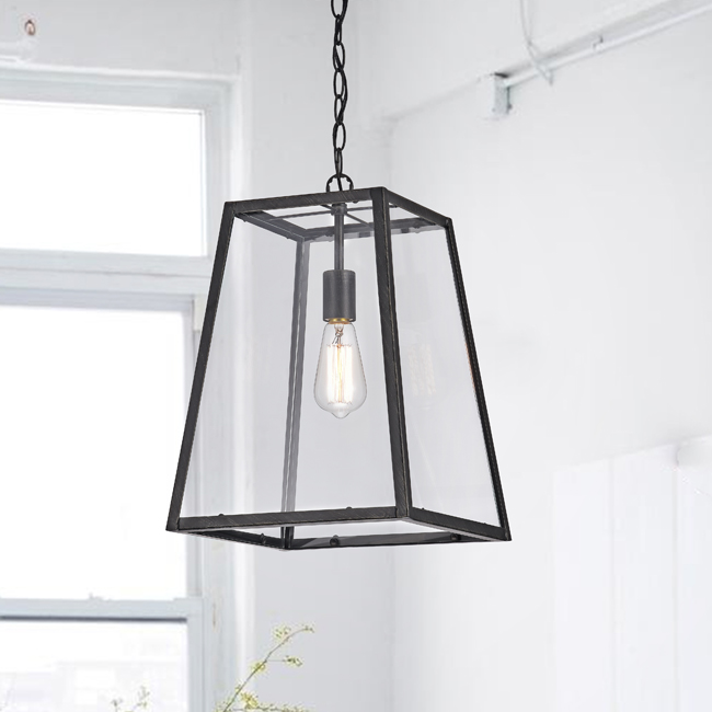 Ashley 1-Light Medium Pendant in Antique Black Finish LJ-1557-DMS
