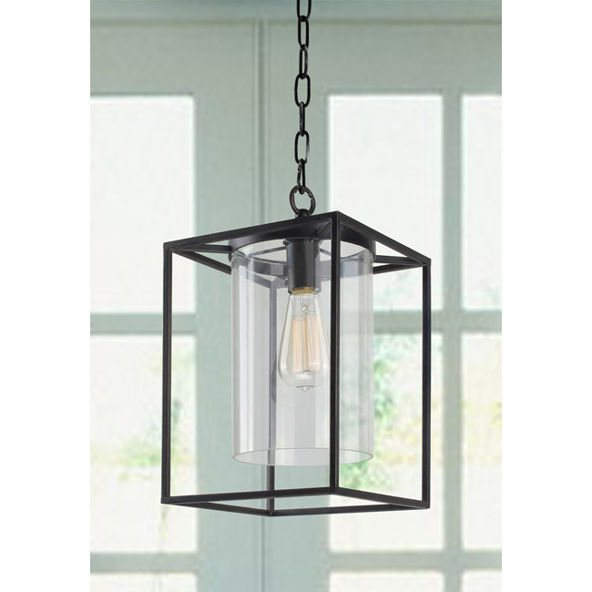 La Pedriza Antique Black Finish Glass Chandelier - B851-KT-398