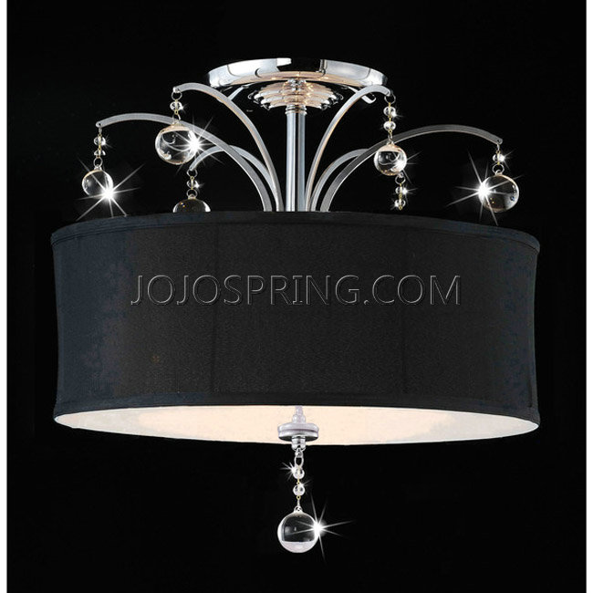 Laguna Chrome and Crystal Flush-mount Chandelier - B865-HT-405