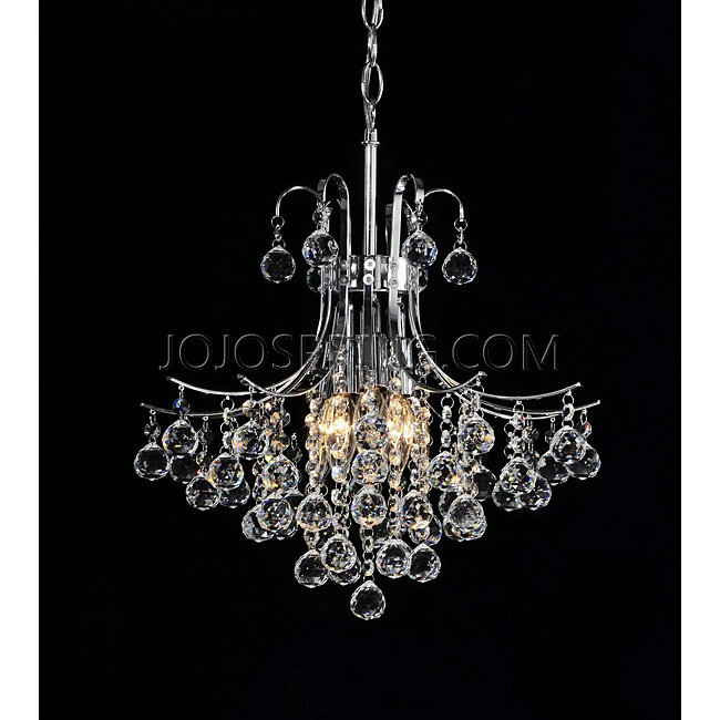 Namika 6-Light Crystal and Chrome Chandelier - L763-HY-354