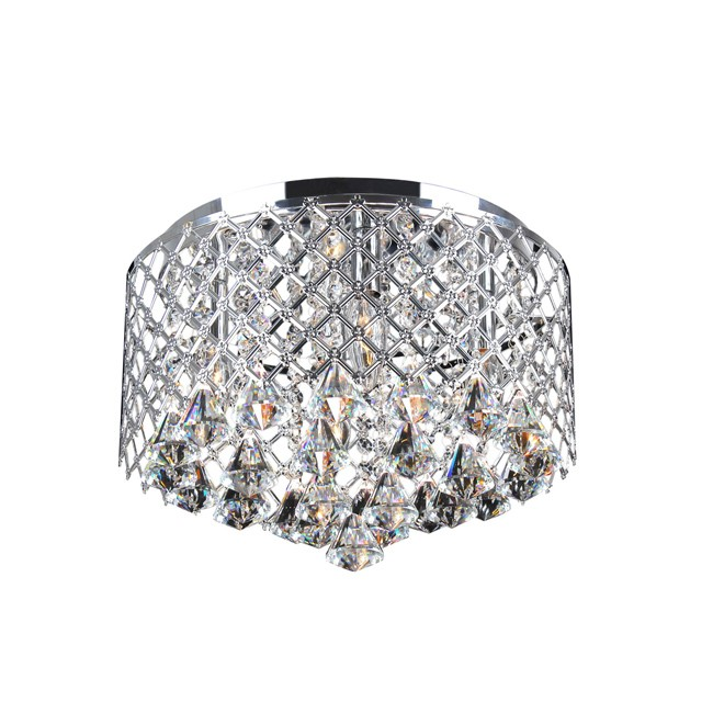 Nerisa Chrome Crystal Flush Mount Chandelier - B857-MN-401