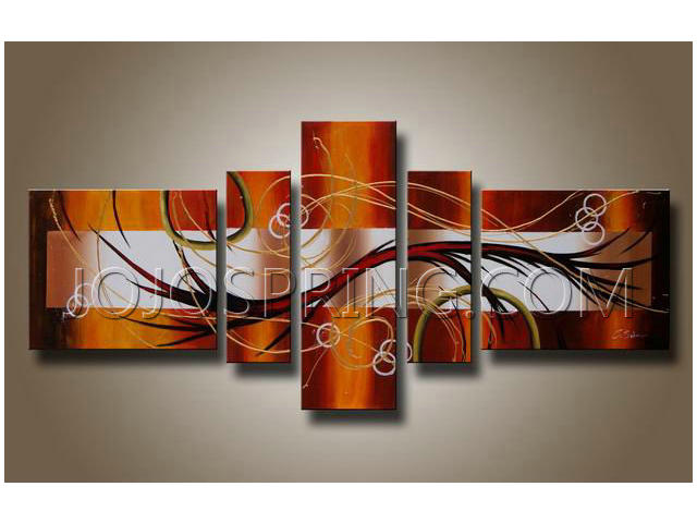 Abstract Hand Painted oil painting Canvas set OF-198-TSZY