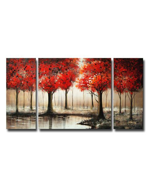 Hand-painted Gallery-wrapped Art Set OF-600-RPW