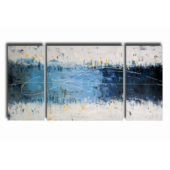 Wake Up ' 3-piece Gallery-wrapped Canvas Art Set OF-609-ZNS