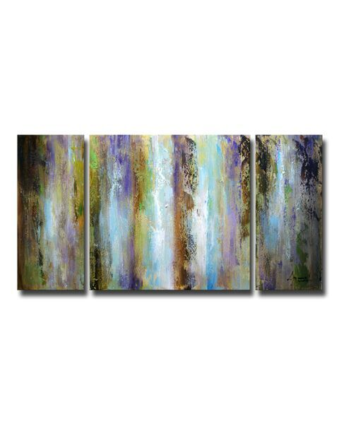3-piece Hand-painted Gallery-wrapped Canvas Art Set OF-615-PSY