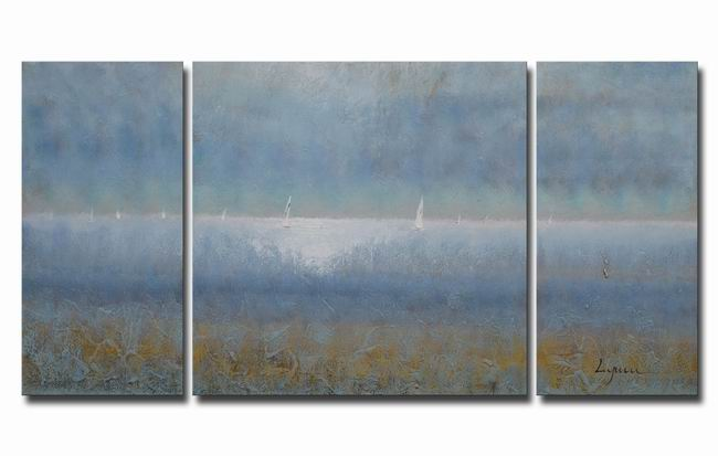 Oil 'Sailing' Gallery-wrapped Canvas Art Set OF-624-EKZ