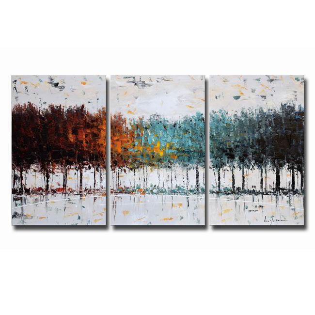 Hand-painted Oil Gallery-wrapped Canvas Art Set OF-637S-CW
