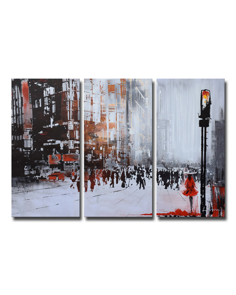 Hand-painted Gallery Wrapped Oil on Canvas Set OF-640S-FJ