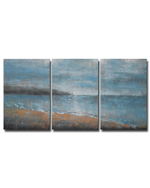 Stay With You' 3-piece Oil on Canvas Set OF-646L-SQ
