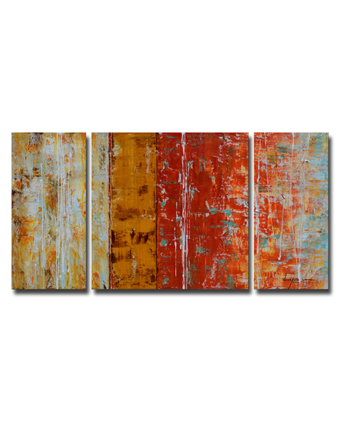 Hand-painted Gallery-wrapped Oil on Canvas Set OF-653-MOP