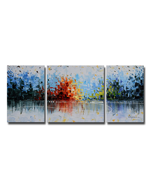 3-piece Gallery-wrapped Oil on Canvas Set OF-654F-KJ
