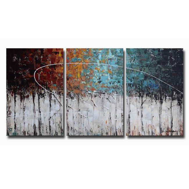 Hand-painted 'Winter Forest' 3-piece Gallery-wrapped Canvas Art Set OF-673-WYC
