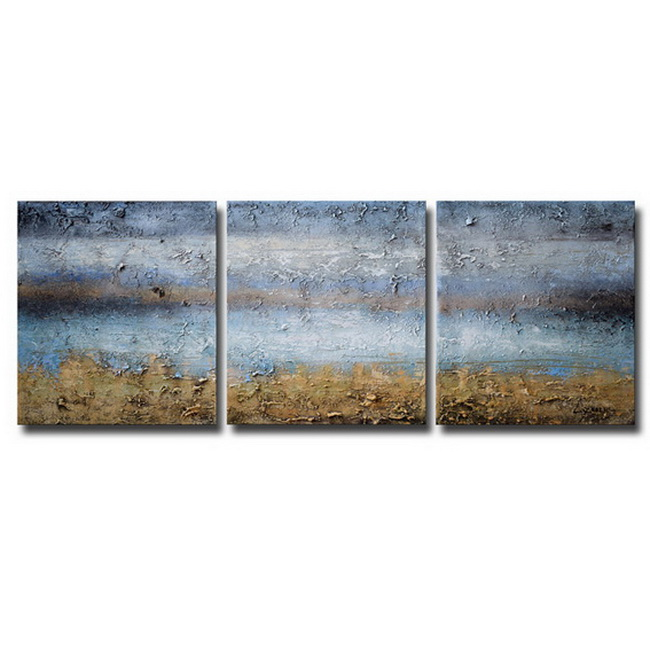 Abstract 674' Gallery-wrapped Canvas 3-piece Hand-painted Art Set OF-674-ZOM