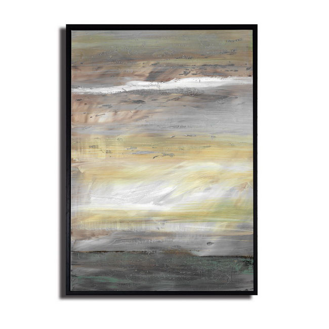Framed prints with hand painted texture 'Rolling In The Deep-1' Gallery-wrapped Canvas Art Set OF-692-BLA