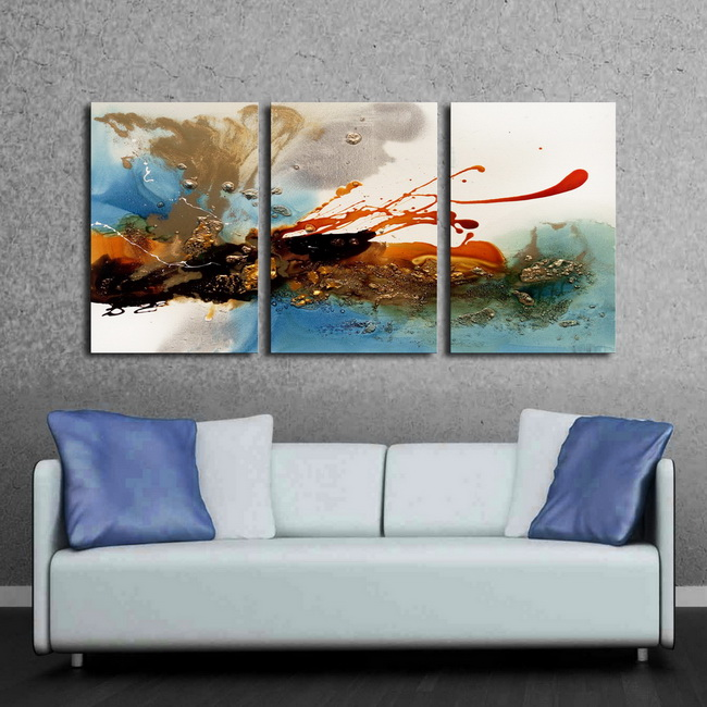 Prints with hand painted texture 'Forever Young' 3-piece Gallery-wrapped Canvas Art Set OF-695-PFY