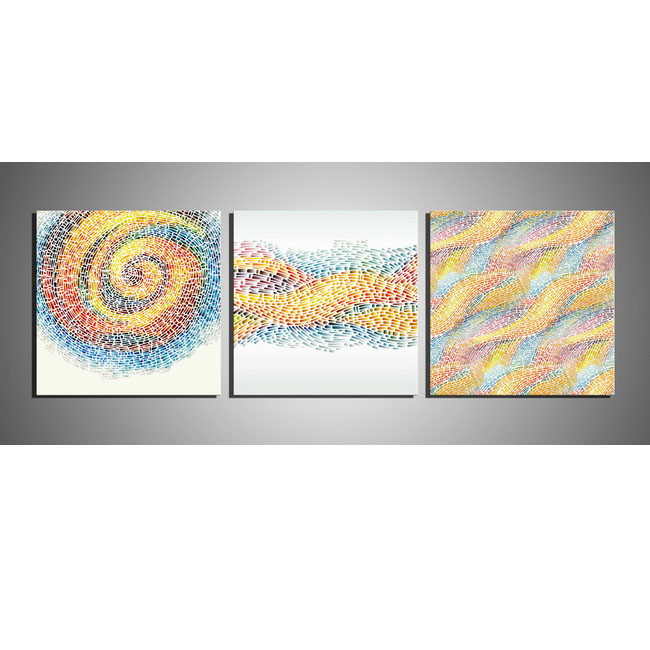 Flow' 3-piece Gallery-wrapped Print on Canvas Art Set OF-698-MCH