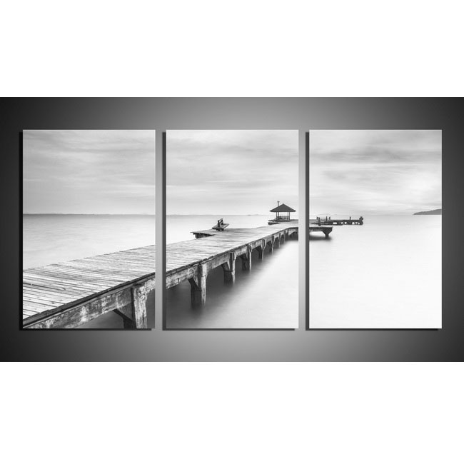 The Pier' 3-piece Gallery-wrapped Print on Canvas Art Set OF-702-SH