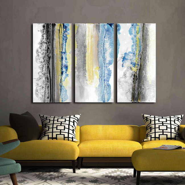In The Rain' 3-piece Gallery-wrapped Prints on Canvas Art Set OF-706-MHJ