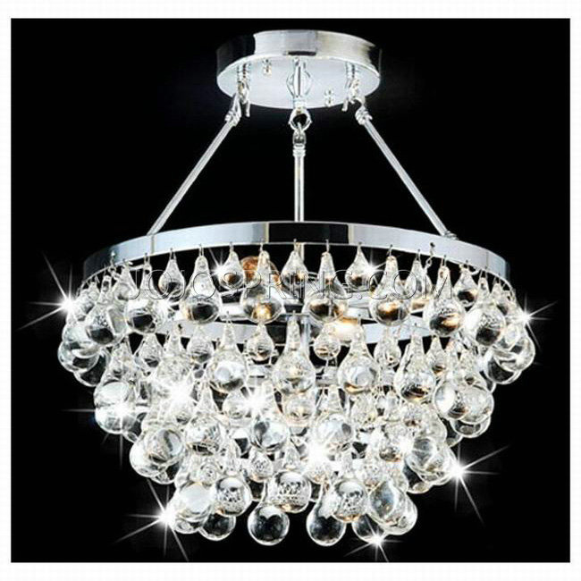 Otis Designer 5-light Chrome Semi flushmount Chandelier - B279-X