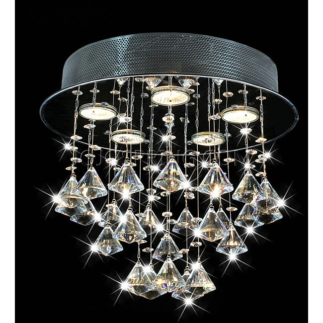 Round Chorus 5-light Chrome Ceiling Chandelier - B729-RC-337
