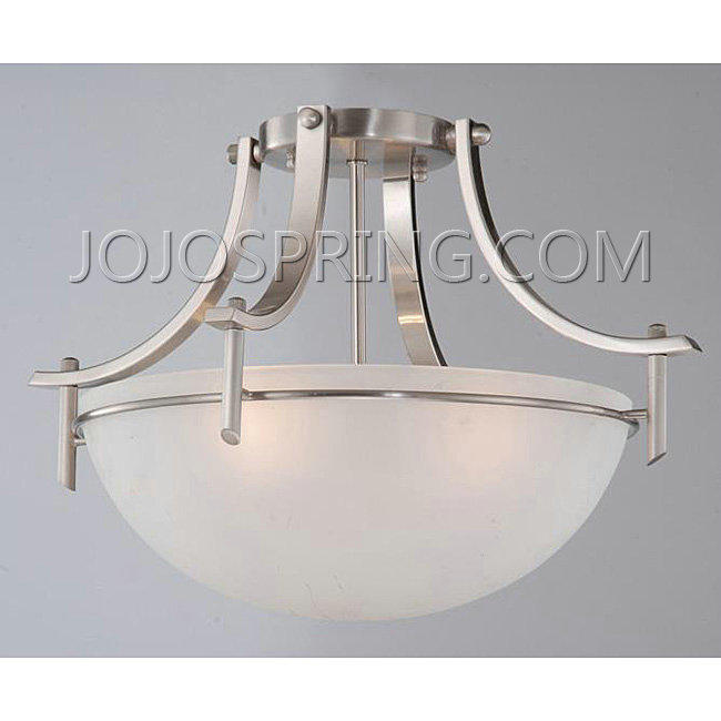 Satin Nickel 3-light Ceiling Fixture - BX57NW