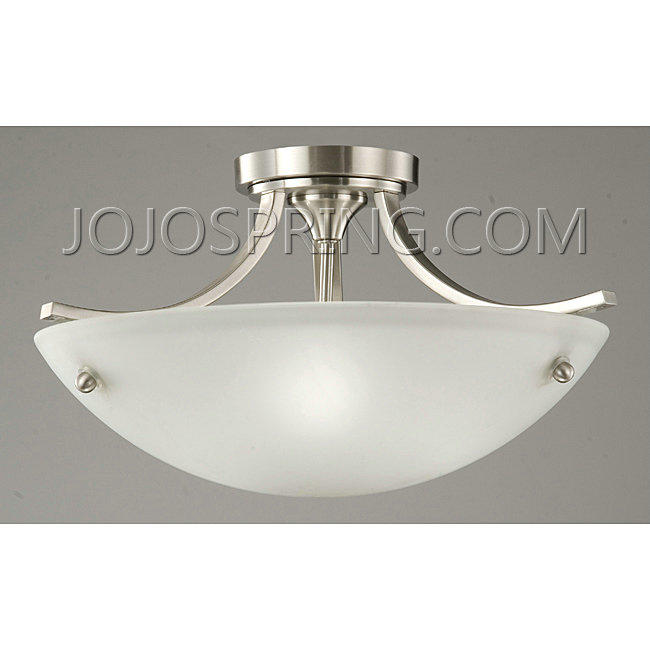 Satin Nickel 3-light Ceiling Lamp - BX51N