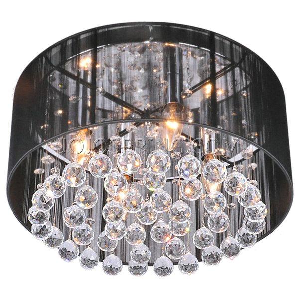 Silvia 4 light black shade chrome crystal flushmount chandelier silvia 4 light black shade chrome crystal flushmount chandelier l049 hc 497 mozeypictures
