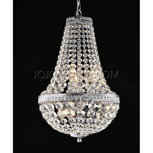 Symmetric 6-light Chrome Chandelier - L783-CB-364