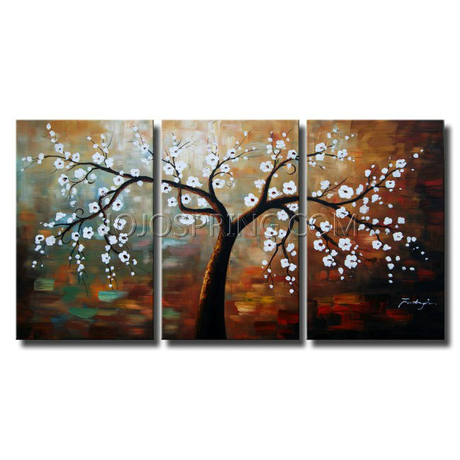 The Giving Tree Hand Painted Oil on Canvas Art Set