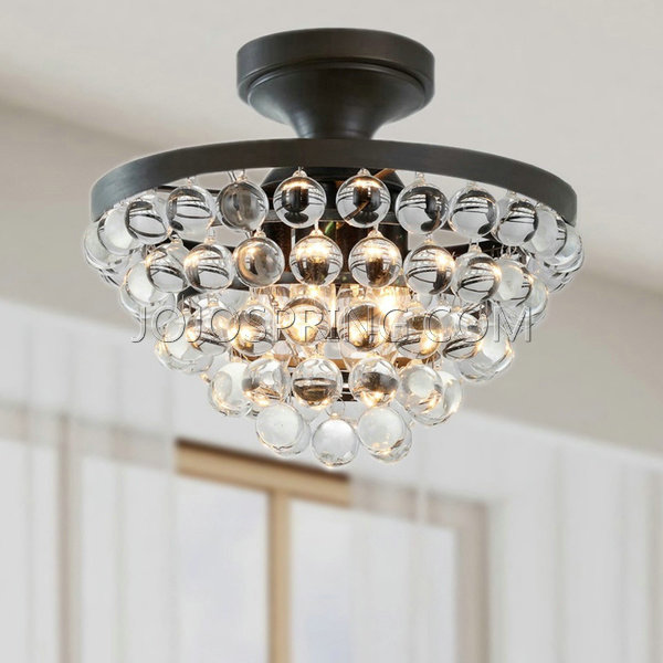 Beautiful crystal flush-mount - crystal flush-mount lighting - flush-mount AP72