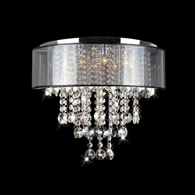 Chrome Finish 4light Round Crystal Chandelier – 4-light Chrome Crystal Chandelier